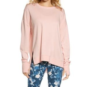 Sweaty Betty Blush Pink Crew Neck Light Sweatshirt